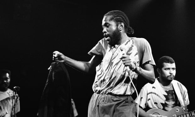 Calypso singer David Rudder performs at the Melkweg in Amsterdam, Netherlands on 28 July 1988. Photograph: Frans Schellekens/Redferns